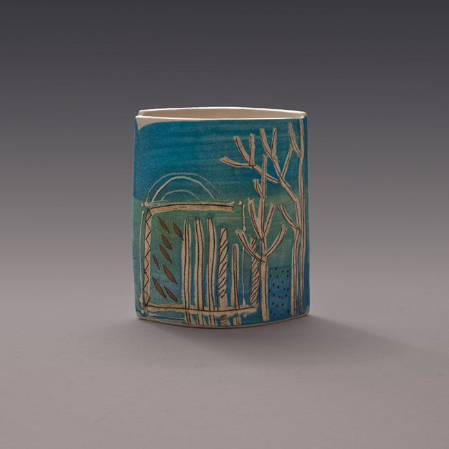 Blue porcelain pot