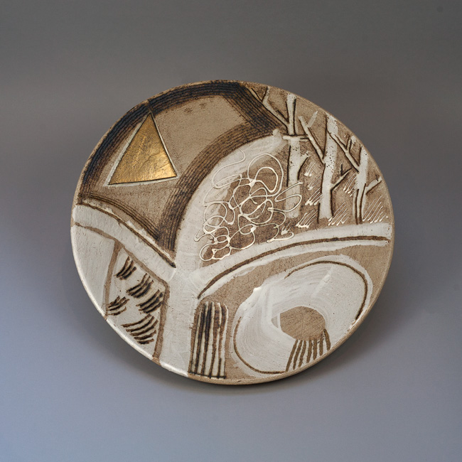 Garden Path stoneware bowl